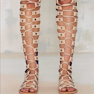 Jeffery Campbell Thigh High Lace Up Sandals